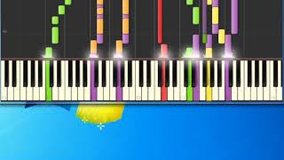 Blonde hair blue jeans Chris DeBurgh [Synthesia Piano] [Piano Tutorial Synthesia]