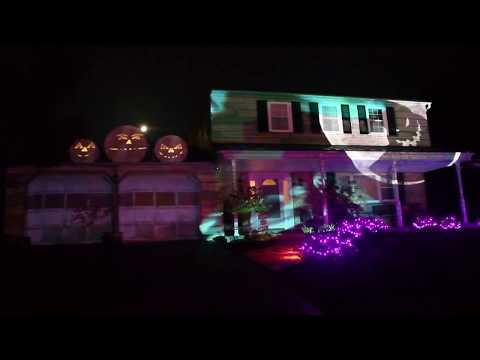 Halloween house projection - This is Halloween