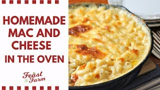 Homemade Macaroni and Cheese in the Oven