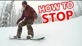 #40 Snowboard begginer – How to stop on a snowboard