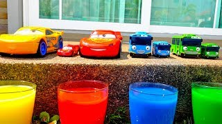 Learn Colors With Mcqueen Tayo Bus Finger Song Car Toy Video For Kids Playground