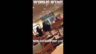 Dude Knocks A Stud Out In A Denny's Restaurant For Talking Ish!