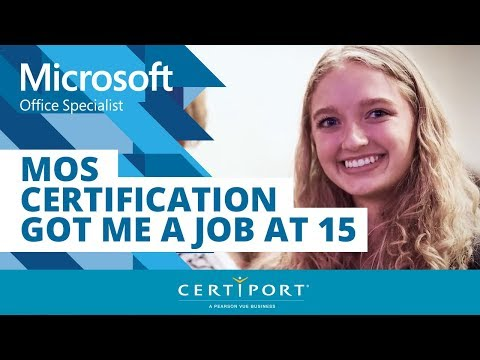 MOS Certification Got Me a Job at 15 - YouTube