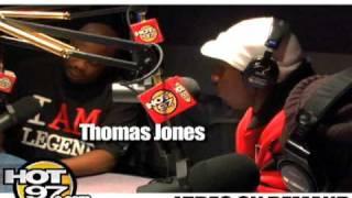 Hot 97-Angie Martinez Interviews Thomas Jones from The New York Jets