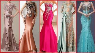 Latest Top Trendy Mermaid Gown Dresses With Sequins And Lace Applique For Party Wear 2020