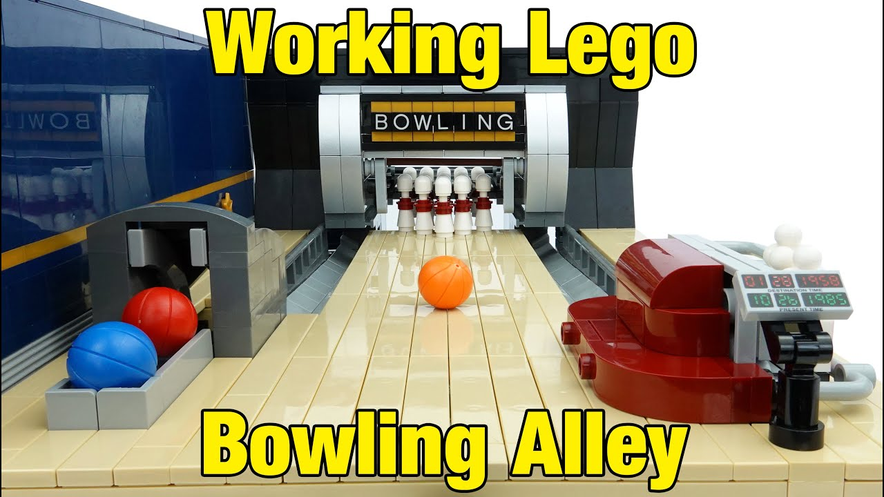Working Lego Bowling Alley - with Functional Pinsetter & Ball Return!