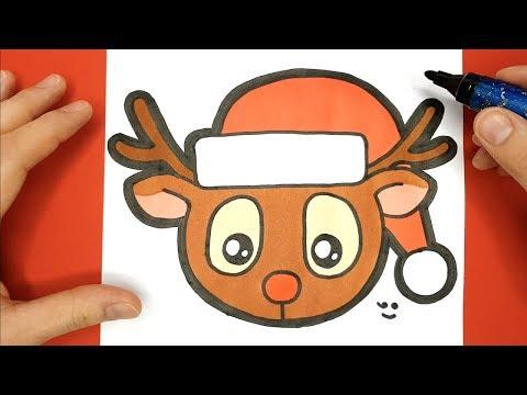 Tuto Dessin De Rudolphe Au Nez Rouge Renne Du Père Noël