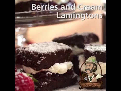 Berries & Cream Lamingtons Recipe
