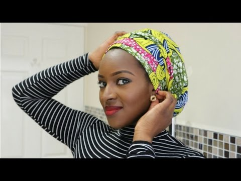 African Turban Tutorial #21 | Ankara