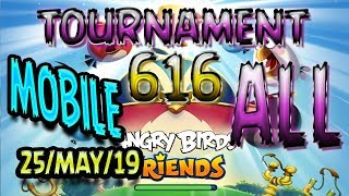 Angry Birds Friends All Levels MOBILE Tournament 616 Highscore POWER UP Walkthrough #AngryBirds