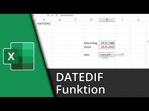 Excel-Funktionen #25 | =DATEDIF() [Deutsch/HD]