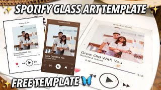 HOW TO MAKE SPOTIFY GLASS ART TEMPLATE