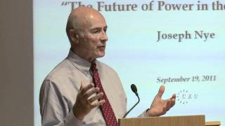 Joseph Nye on global power in the 21st century, the full lecture at Central European University