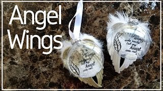 How To Make Dollar Tree Wing Memorial Angel Christmas Ornaments