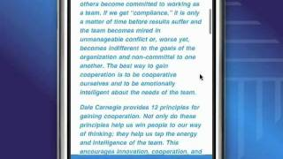 Dale Carnegie Secrets of Success iPhone App Demo