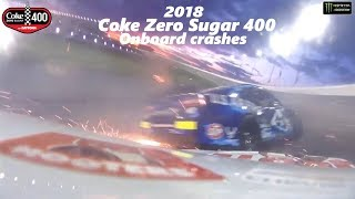 All Access: 2018 Daytona Coke Zero Sugar 400 Onboard Crashes