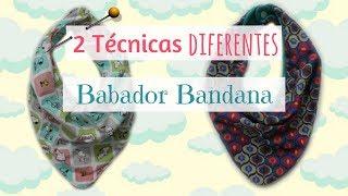 Como Fazer - Babador Bandana ( 2 Técnicas)
