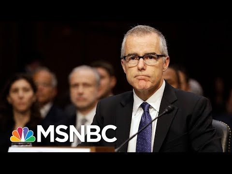 Andrew McCabe Steps Down As Deputy Director Of The FBI | Andrea Mitchell | MSNBC