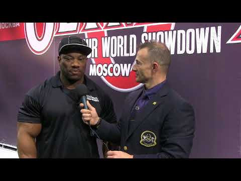 Interview Dexter Jackson in 2015 Olympia Moscow