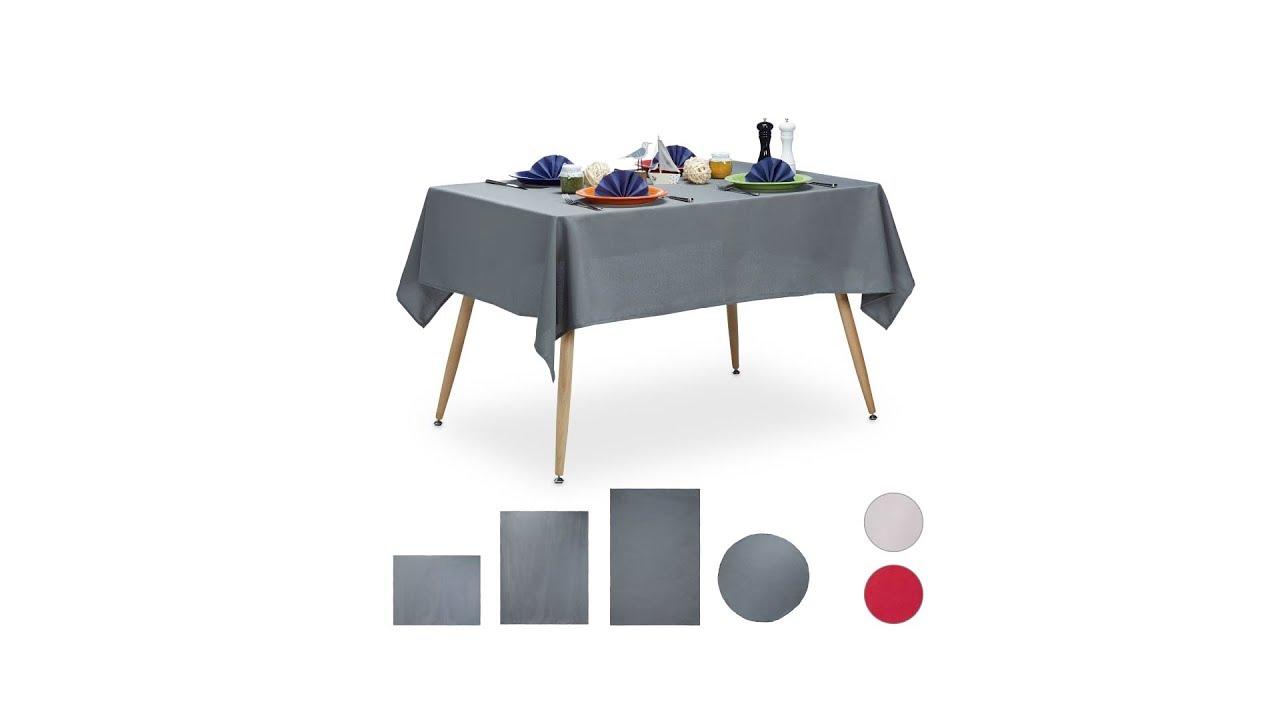 Video von: Tischdecke wasserabweisend in 3 Farben