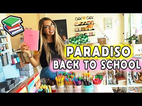 Il Paradiso del BACK TO SCHOOL! (Negozio Online di Cartoleria!) - VLOG | Carolina Chiari