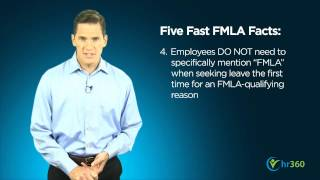Five Fast Facts About FMLA (Family and Medical Leave Act)