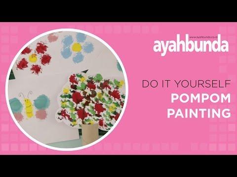 DIY - Pom Pom Painting