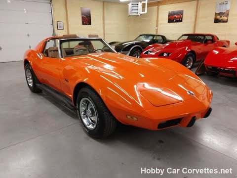 1975 Orange Flame Corvette Stingray For Sale Video