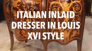 Italian Inlaid Dresser In Louis XVI Style