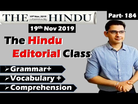 The Hindu Editorial Analysis | 19 Nov 2019 | The Hindu Newspaper today | A Precedent