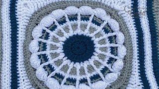 Crochet Flora Afghan: Queen Anne Lace Square