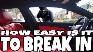 BREAKING INTO A DODGE CHARGER **MUST WATCH**