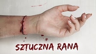 SZTUCZNA RANA - tutorial na Halloween★ Red Lipstick Monster ★