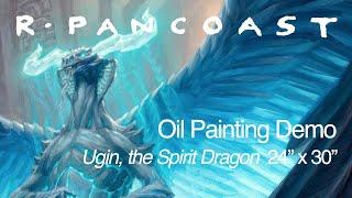 Ugin, The Spirit Dragon (Mtg Card Illustration) 24x30 Oil On Canvas