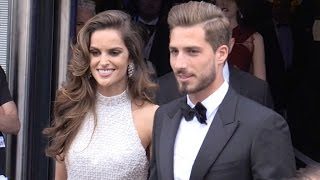 Izabel Goulart And Husband Kevin Trapp Coming Out Of The Palais Des Festival In Cannes