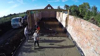 Barn Conversion Concrete Floor Slab Pour Timelapse