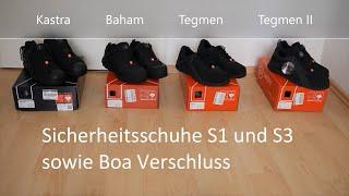 Vergleich Komfort Sicherheitsschuhe Engelbert Strauss Boa-Verschluss