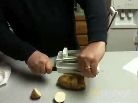 Cortador de papas fritas y verduras Blanco