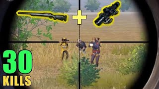 M24 + 8X SCOPE IS OP!! | 30 KILLS SOLO VS SQUAD | PUBG MOBILE