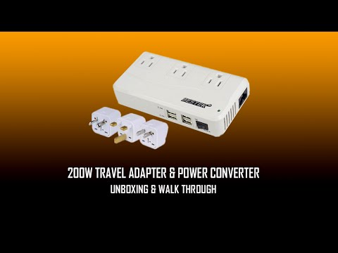 Bestek 200W Travel Adapter & Power Converter -  Unboxing and Walk Through