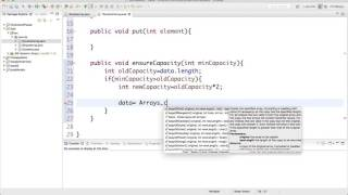 6- implement dynamic array in java