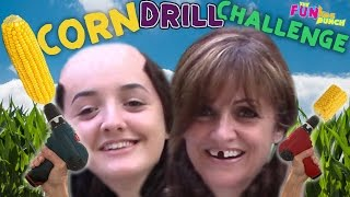 CORN on The DRILL CHALLENGE Fail or Disastrous? FUNkee Bunch Attempts the CORN DRILL!