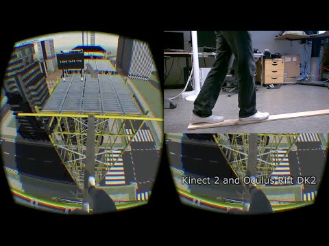 Fear of heights demo with full-body tracking — Oculus