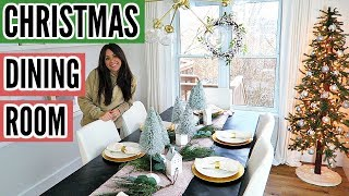 DECORATING MY DINING ROOM FOR CHRISTMAS!