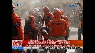 NDRRMC: Tuloy ang nationwide simultaneous earthquake drill sa Huwebes, umulan man o umaraw