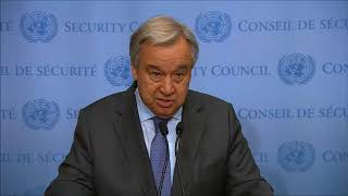 ICP asked SG Guterres about UN abuse in CAR, & crisis in Cameroon. He answered on 1st, not 2nd