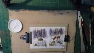 Watercolour Seasonal Greetings Cards