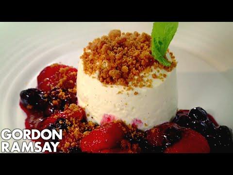 Vanilla Cheesecake with Berry Compote - Gordon Ramsay