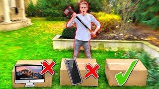 NIE ZNISZCZ ZŁEGO MYSTERY BOXA SIEKIERĄ! *ROZWALIŁEM iPHONE X ZA 5000 ZŁ*