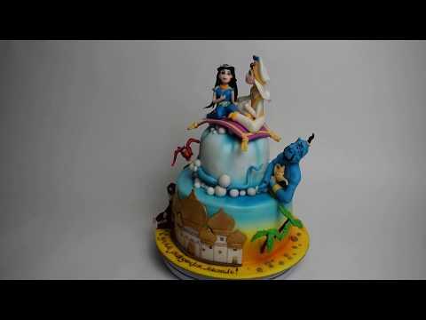 Вариант торта на тему Алладин